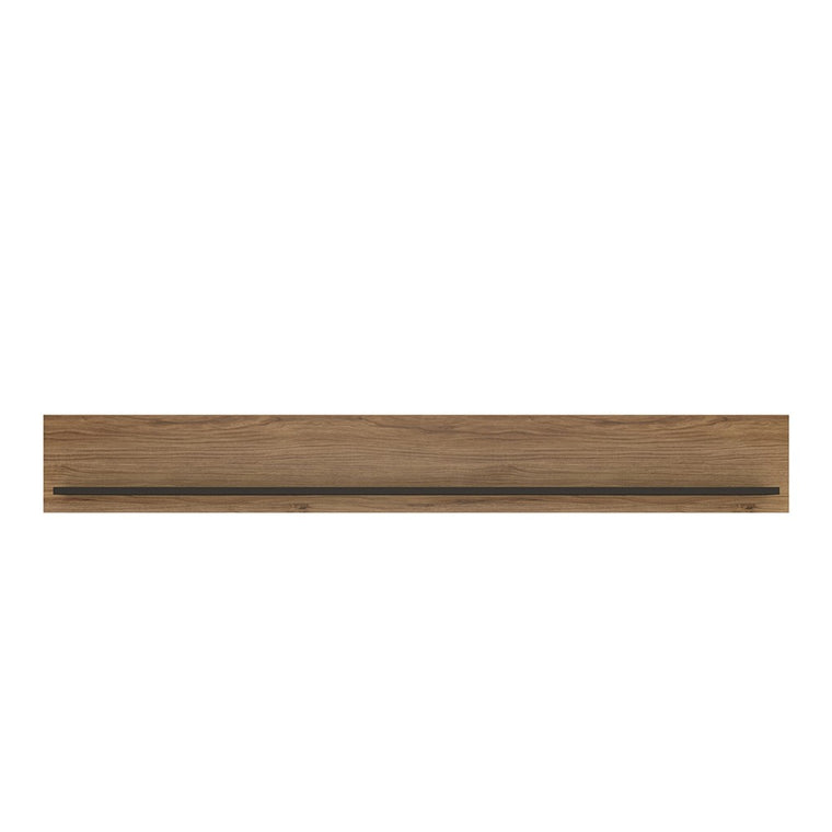 Axton Belmont 167cm Wall Shelf With The Walnut And Dark Panel Finish