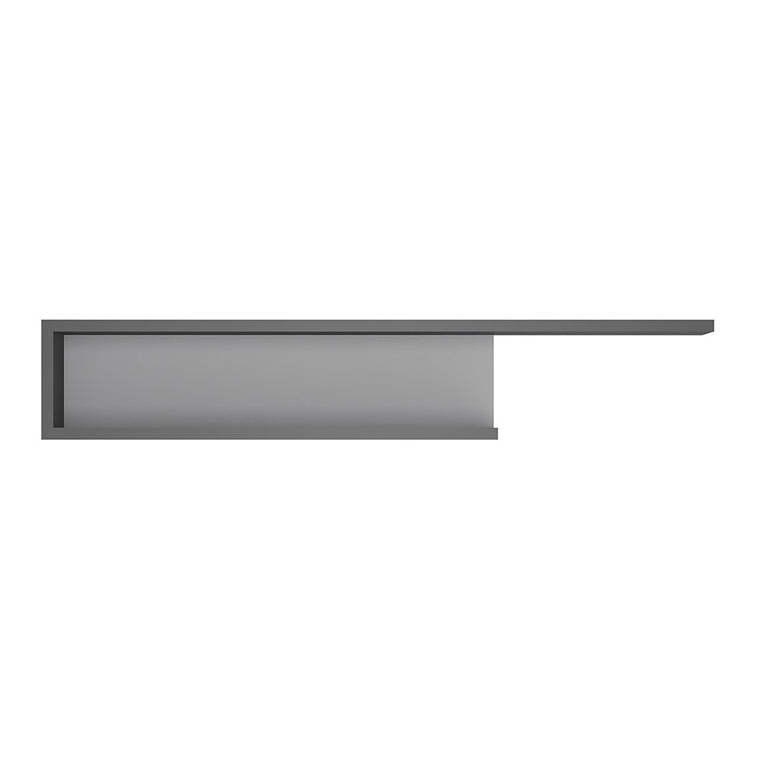 Axton Woodlawn 140cm Wall Shelf In Platinum/Light Grey