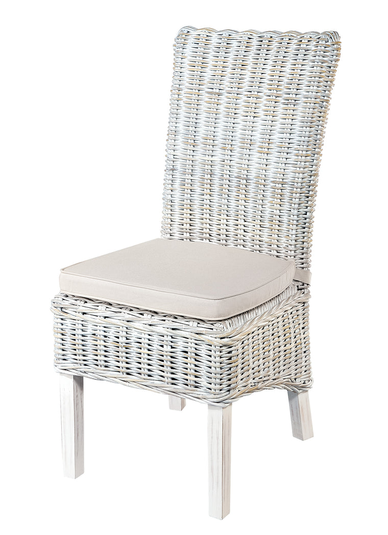 Rowico White Wash Rattan Dining Chair
