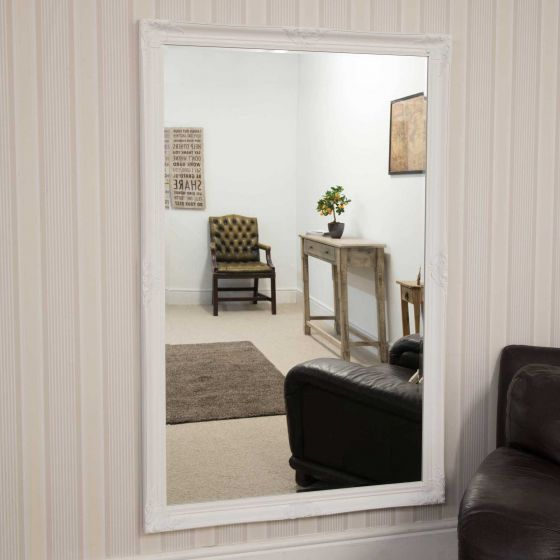 Carrington White Classic Large Wall Mirror 168 x 102 CM