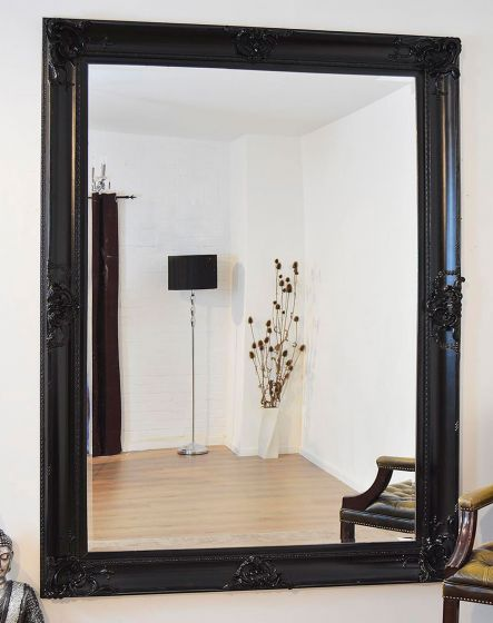 Carrington Black Extra Large Leaner Mirror 213 x 152 CM