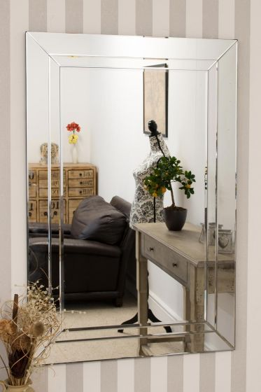 Carrington All Glass Large Dress Mirror 120 x 80 CM