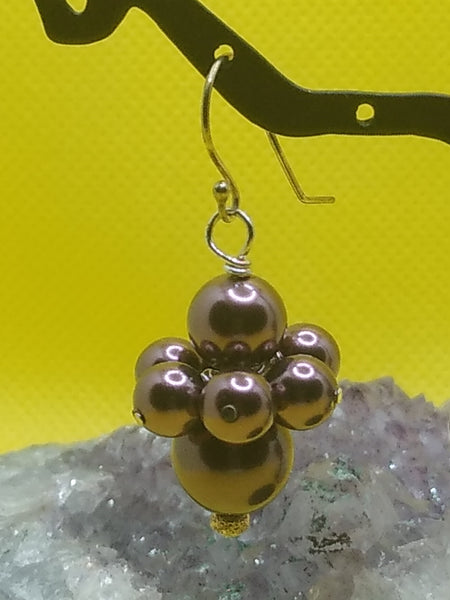 """Blackberry Gallette"" ~ Earrings"