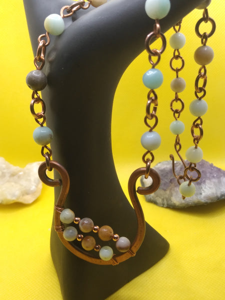 Copper and Amazonite Necklace