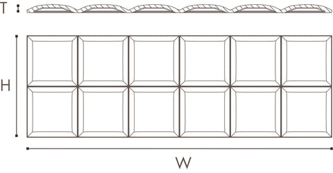 Square wall panel dimensions