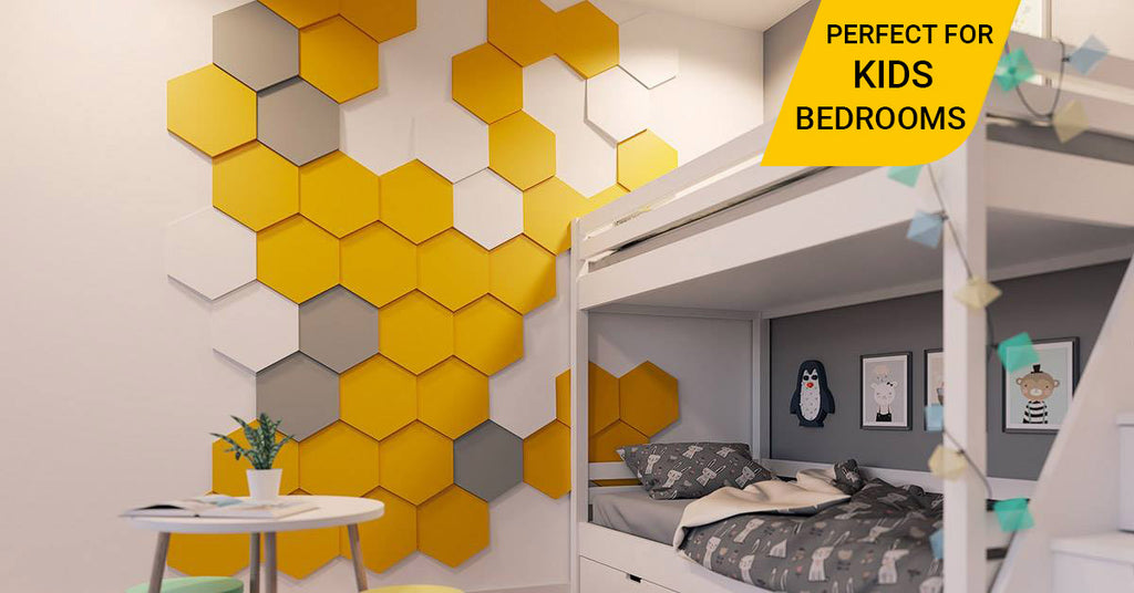 3D polyfoam wall panel Hexagon