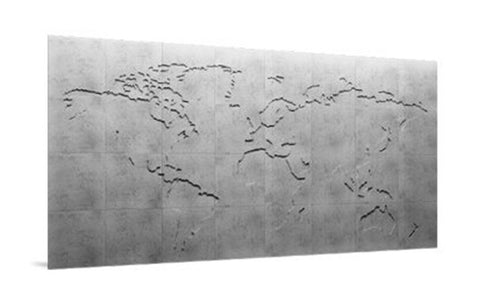 Map of the World - 3D Concrete Mural