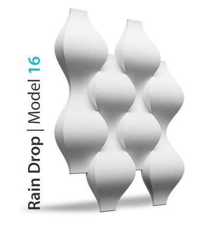 3D Wall Panel - RAINDROP, [shop-name]