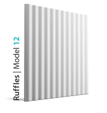 3D Wall Panel - RUFFLES, [shop-name]