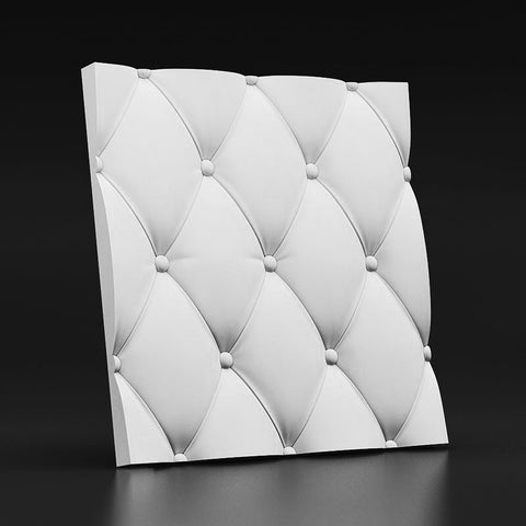 """Soft Buttons"" 3D Wall Panel Model 06, [shop-name]"