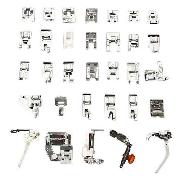 40 Piece Sewing Machine Presser Foot Set For Brother Singer Janome Inspiration Brother Sewing Machine Presser Foot Types
