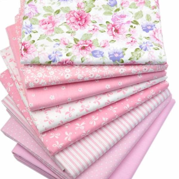 Pink Cotton Fabric For Quilting & Patchwork (8 Piece Lot ... : fabric for quilting - Adamdwight.com