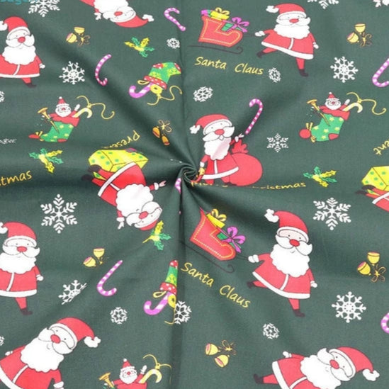 Christmas Trees on Red Design FQ to Yard New-100/% Cotton