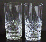 Irish Waterford Crystal Lismore Pattern Highball Glasses 5-1/2 in. Tall