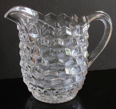 Fostoria American Large Pitcher  59 oz. 8 Inches Tall