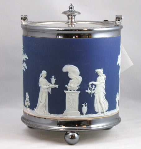 Jasper Ware Biscuit Barrel by Josiah Wedgwood C 1891-1921