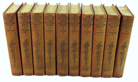 Complete Works of James Whitcomb Riley 10 Volumes 1916