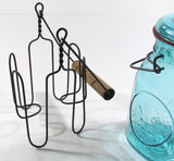 Glass Top Mason Jar w/Twisted Wire Boiling Caddy