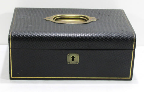 Gentleman's Jewellery Box Black Leather From Early Boot's UK