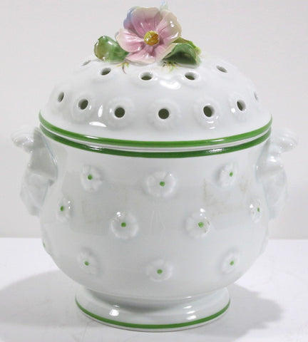 Raynaud & Co. Limoges Potpourri Jar  7-1/2 inches Tall