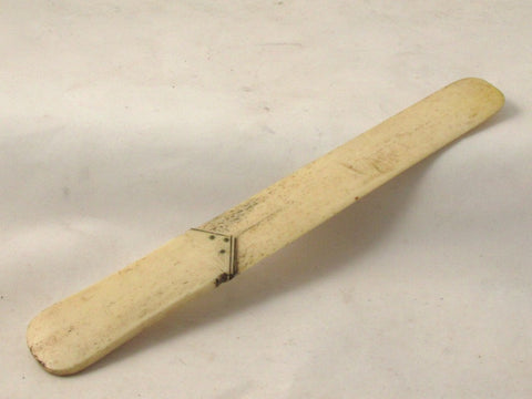Carved Bone Two-part Paper Knife 8-7/8 in. Long