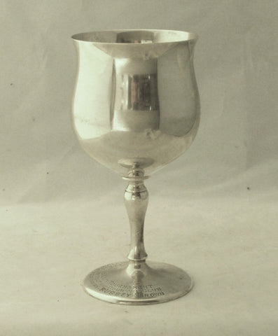 Golfing Trophy Army Navy Hospital H.S., Ar. Wallace Sterling Goblet