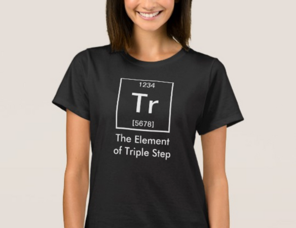 Short Sleeve Women's T-Shirt - The Element of Triple Step