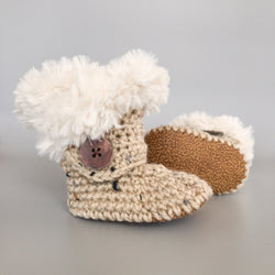 Mountain Lion - Baby Shoes Handmade by Raspberriez