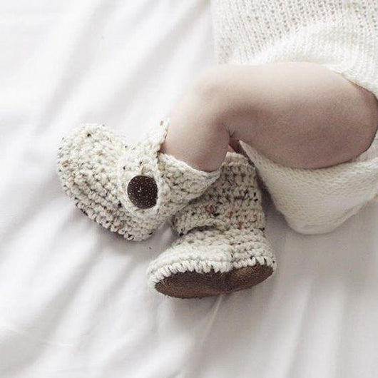 Brown Sugar Oatmeal - Baby Shoes Handmade by Raspberriez
