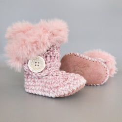 Cotton Candy - Baby Shoes Handmade by Raspberriez