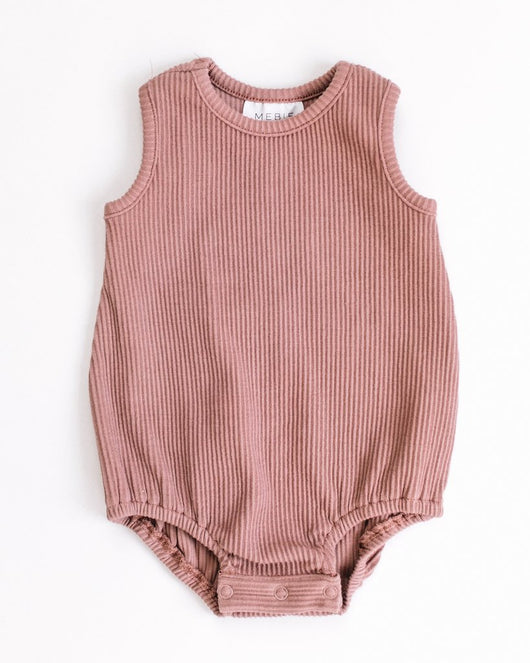 Dusty Pink Bubble Romper