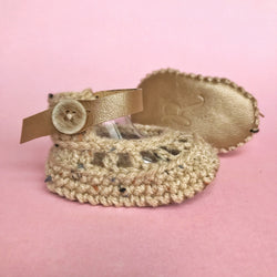 Beige Oatmeal Anklet