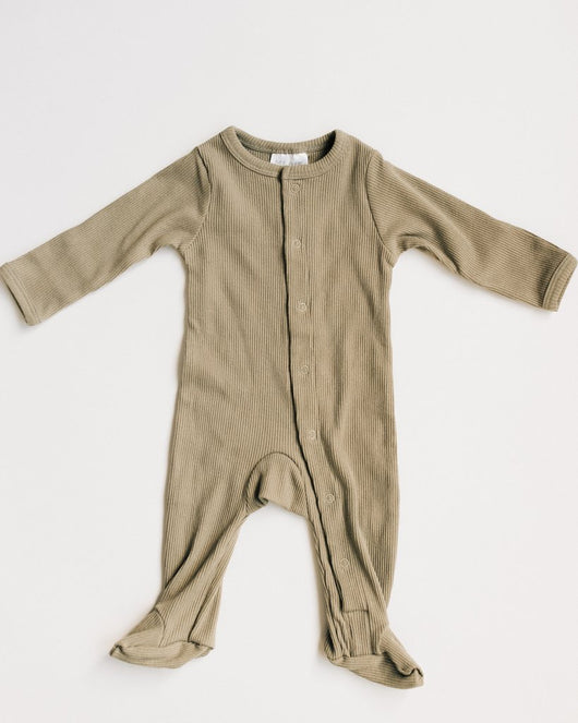 PRE-ORDER Sagebrush Ribbed Footed Onesie