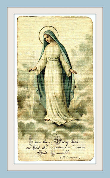 Mother Mary Holy Card