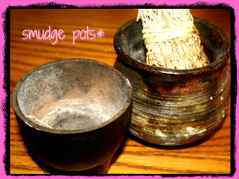 smudge pot and cauldron