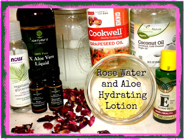 rose water and aloe hydrating lotion