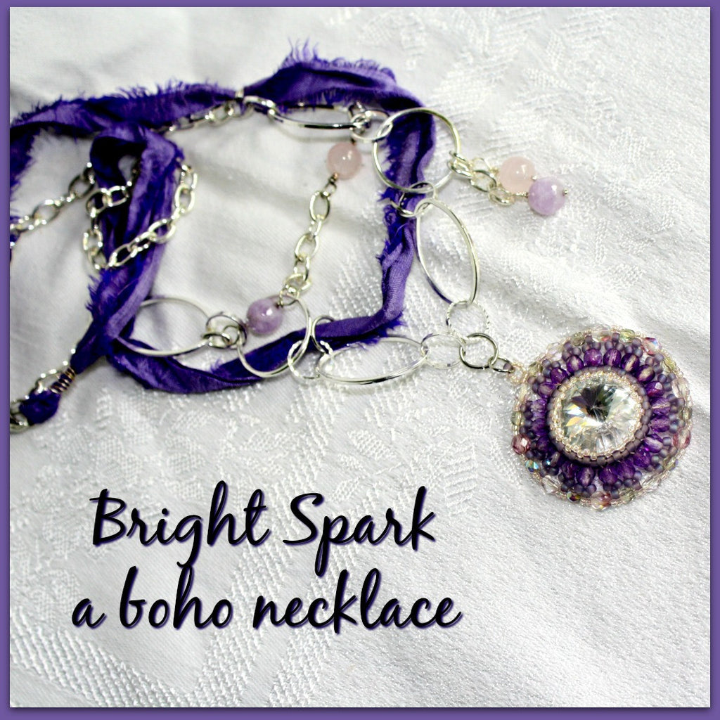 Bright Spark Boho Mixed Media Necklace