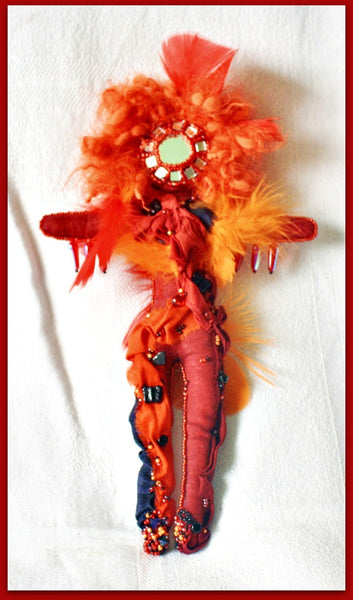 Burning Woman Art Doll - Heather's Mystical Haven - 2