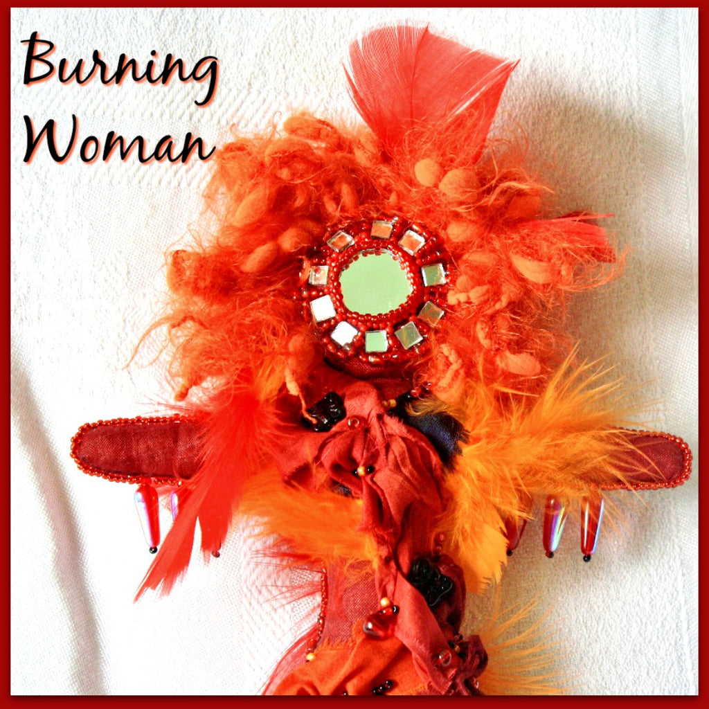 Burning Woman Art Doll - Heather's Mystical Haven - 1