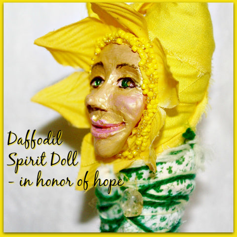Cheerful Daffodil Spirit Doll