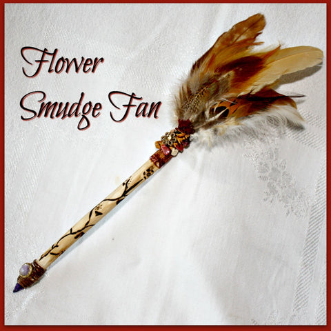 Flower Energy Smudge Fan