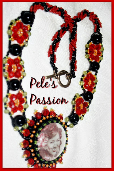 Pele's Passion Necklace with Peridot and Obsidian - Heather's Mystical Haven - 2