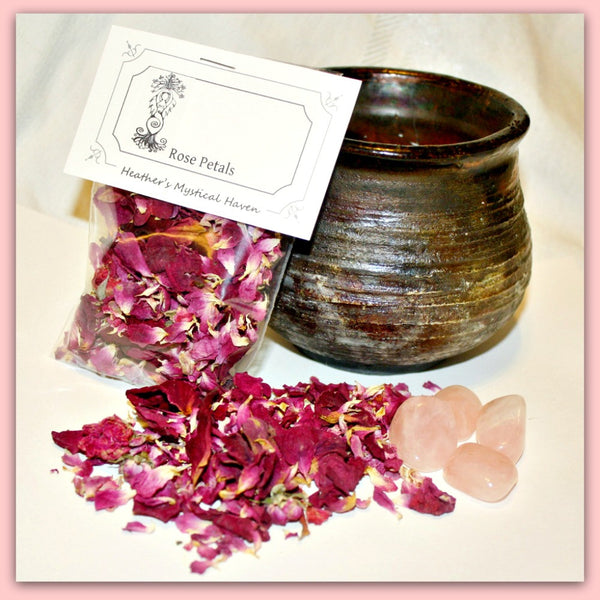 Rose Petals Dried - Heather's Mystical Haven - 1