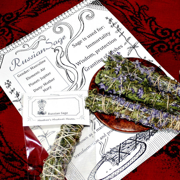 Russian Sage Smudge Wands