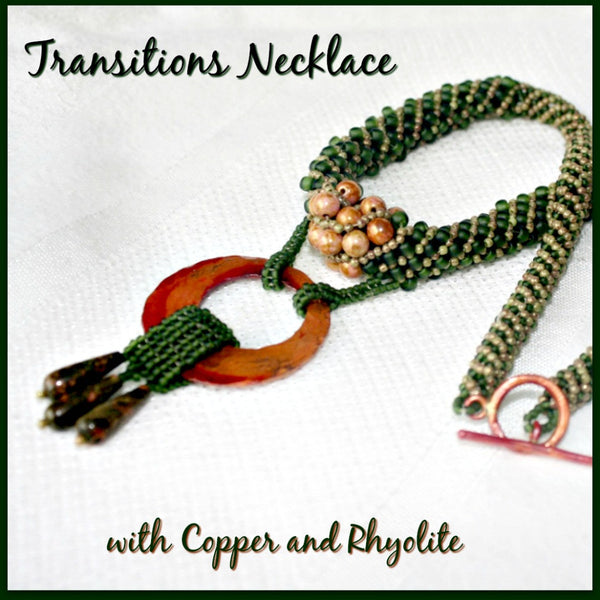 Transitions Necklace with Copper and Rhyolite - Heather's Mystical Haven - 1