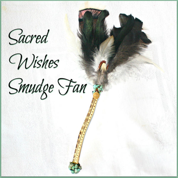 Sacred Wishes Smudge Fan
