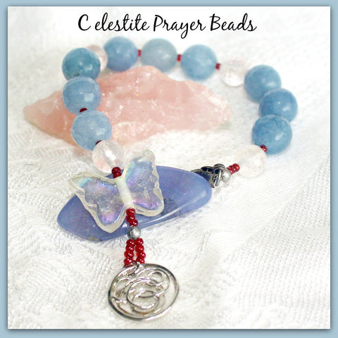 Celestite Prayer Beads - Heather's Mystical Haven - 1
