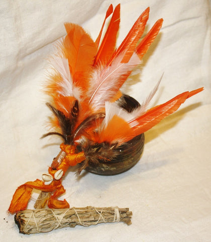 Orange Feather Smudge Fan - Heather's Mystical Haven - 1