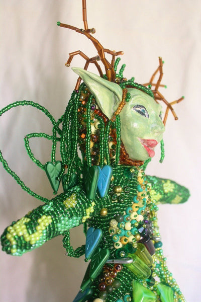 Woodland Fairy - Beaded Art Doll - Heather's Mystical Haven - 3