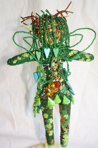 Woodland Fairy - Beaded Art Doll - Heather's Mystical Haven - 4